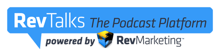 Rev Talks podcast platform logo