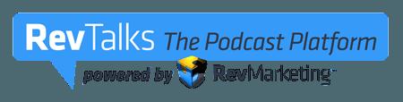 Rev Talks podcast platform logo