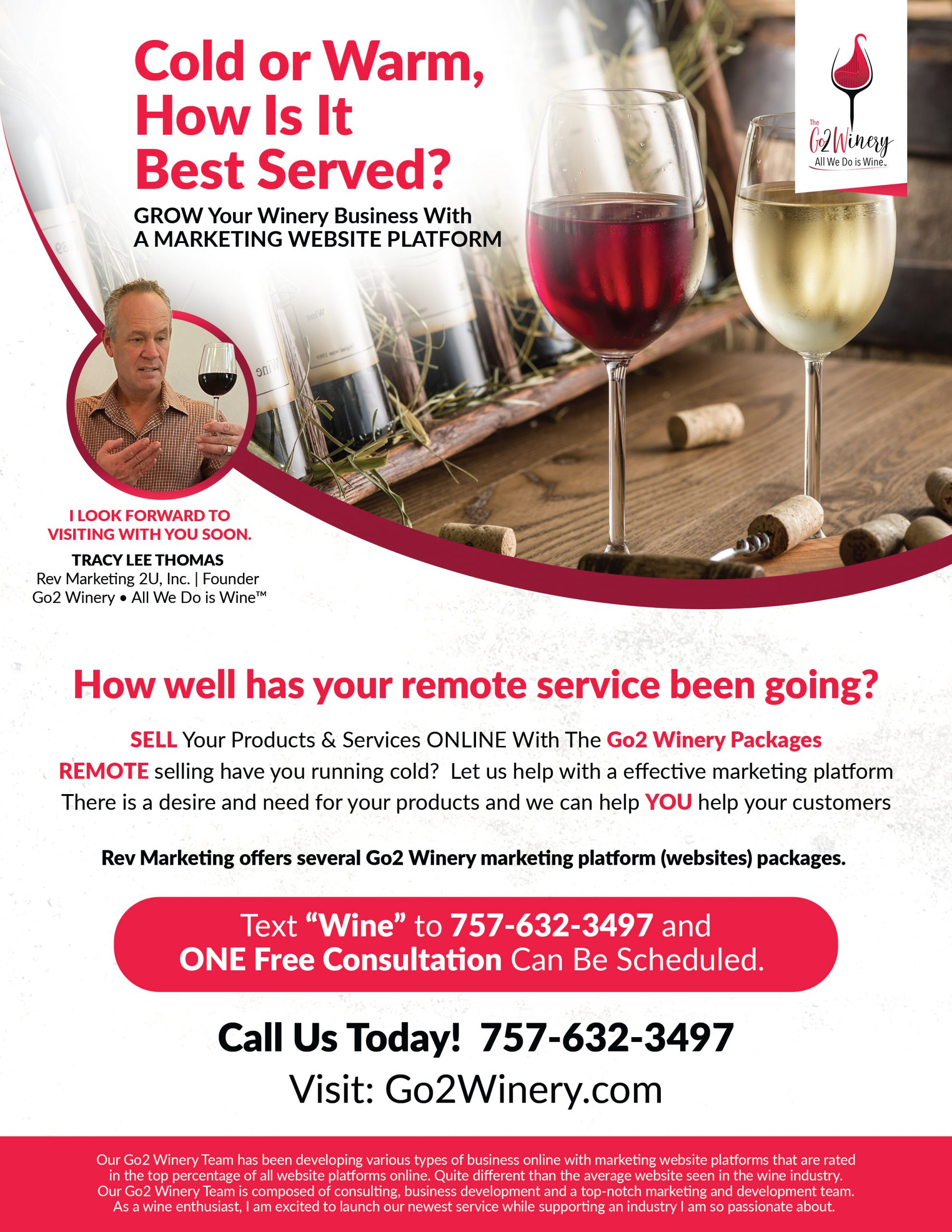 The Rev Marketing Team builds long lasting relationships with wineries while developing a marketing plan and strategies to enhance growth online and in communities around the country