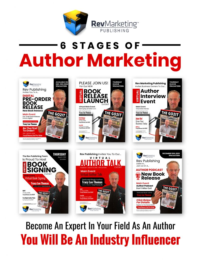man holding book promoting authors and marketing